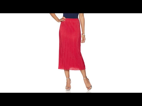 Slinky Brand Pleated Maxi Skirt with Lining