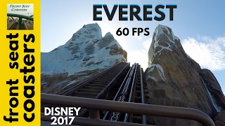 Expedition Everest POV 60fps Front Seat On-Ride 2017 Animal Kingdom Roller Coaster Disney World