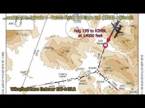 This is the video of the simultor flight into the #8 Most Extreme Airport, according to the History Channel, the Eagle County Regional Airport (KEGE). Episode 4-1 is the Eagle Airport Approach...