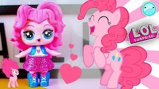 Glitter Custom LOL Surprise Doll My LITTLE PONY DIY ⭐️ Pinkie Pie Tutorial