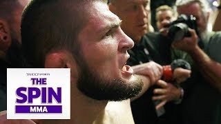 No Belt, No Pay for Khabib? Dana White Post-Fight Interview | #TheSpinMMA