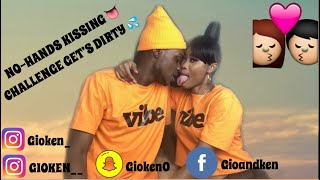 NO-HANDS KISSING CHALLENGE GET'S DIRTY