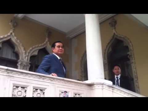 Prayuth Chan-ocha singing a song.