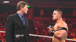 Raw - John Cena chooses The Rock as his tag team partner