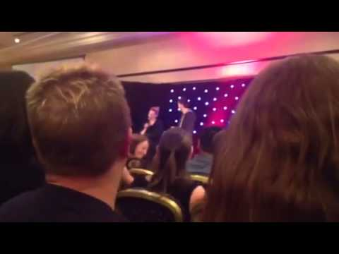 David Tennant and Billie Piper talk Zygons and take a very awkward question from a attendee
