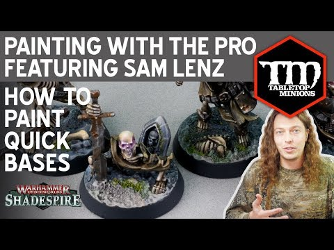 How to Quickly Paint Shadespire Bases - Painting With the Pro