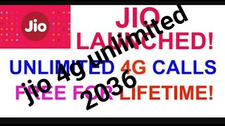 Unlimited jio 4g for 20 years / jio 4g till 2036 [proof 100%]
