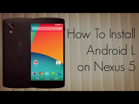 How To Install Android L on Nexus 5 7 in 10 Minutes - Features Demo