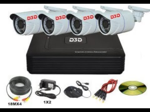 How to install D3D AHD CCTV kit