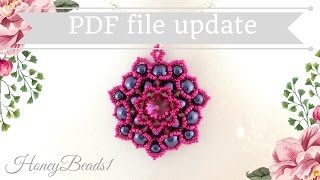 PDF-file Lotus Flower Pendant by HoneyBeads1
