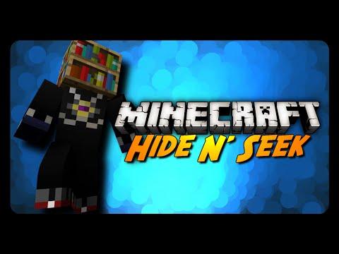 Minecraft: FROZEN IN A BOOKCASE! (Hide N' Seek w/ Friends)