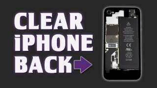 Clear iPhone Back Cover Replacement - Customize your iPhone - Tutorial / Review - iFixit.com