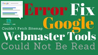 Google webmaster Error Couldn't fetch Sitemap could not be read