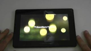 Blackberry Playbook Unboxing Tour & First Power On