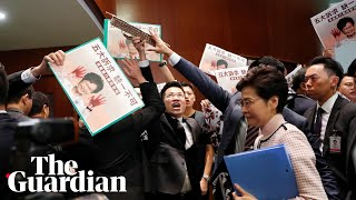 'Carrie Lam step down!' Hong Kong leader heckled in Legislative Council