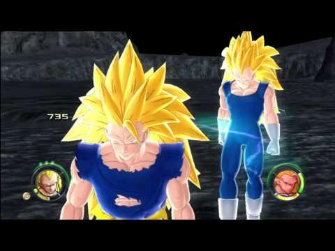 Dragonball Z Raging Blast 2 - Ssj3 Vegeta Vs Ssj3 Goku & Broly (round 2) video