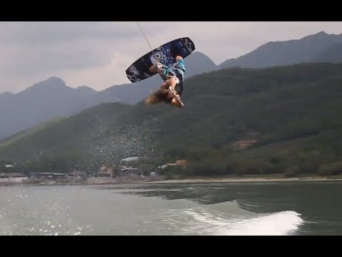 Mexico wakeboarding with Caro, Alejo, and Mitch - June 2012