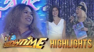 It's Showtime Miss Q and A: Vice and Anne laugh when Miss Q & A contestant reveals her name