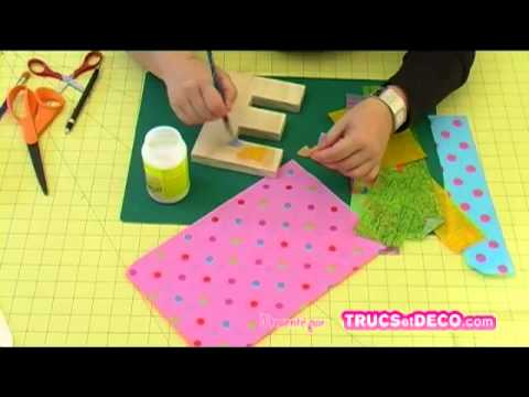 coller du papier d copatch avec de la colle vernis tutoriel par youtube. Black Bedroom Furniture Sets. Home Design Ideas