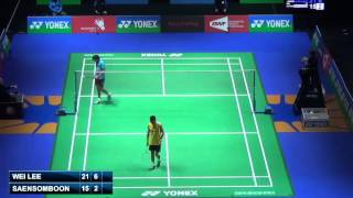 R32 - MS - Lee Chong Wei vs Tanongsak Saensomboonsuk - 2014 All England Badminton Open