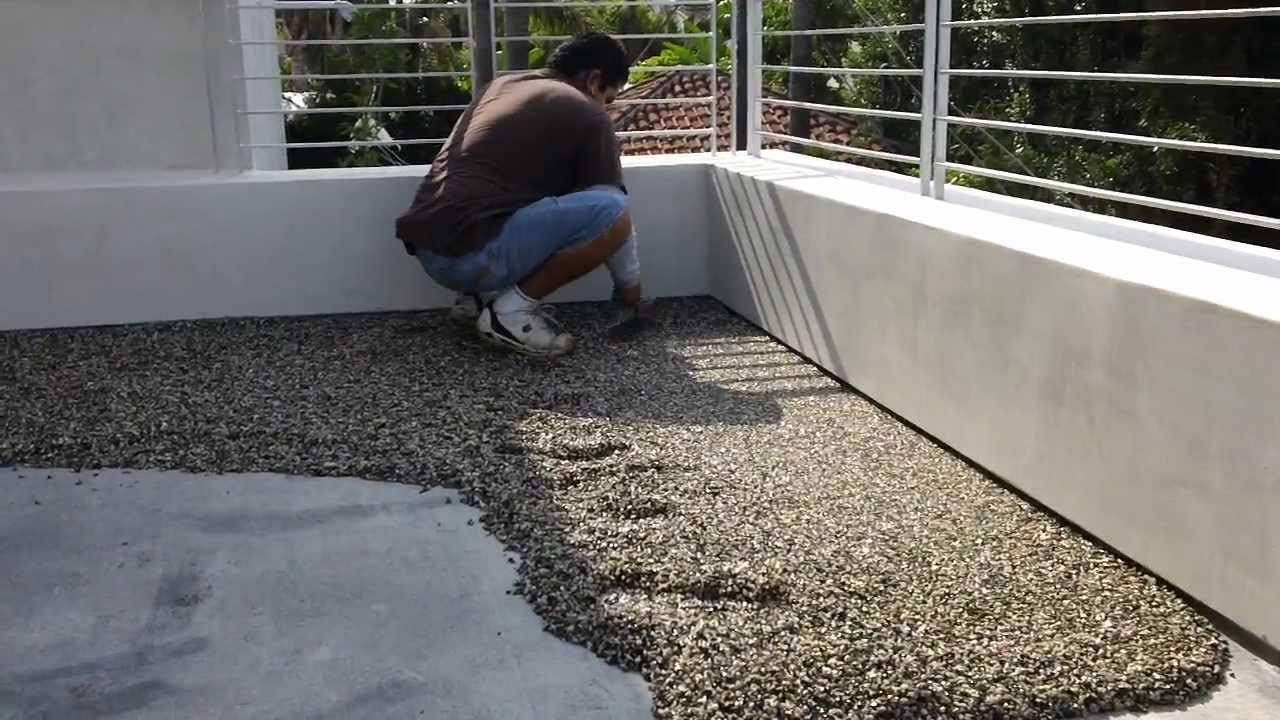 Pebbletec Floor System Installation By STONE DESIGNS