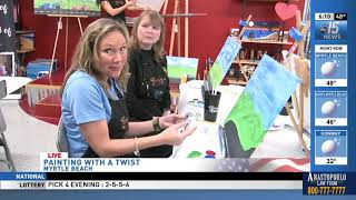 Amanda Live at Painting with a Twist - WPDE ABC 15