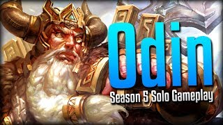 Smite: The PTS Experience...- Season 5 Odin Solo Gameplay