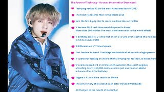 [VIRAL] The Power of BTS V / Taehyung The Most Handsome in the World of 2017 / 2016 and MORE...