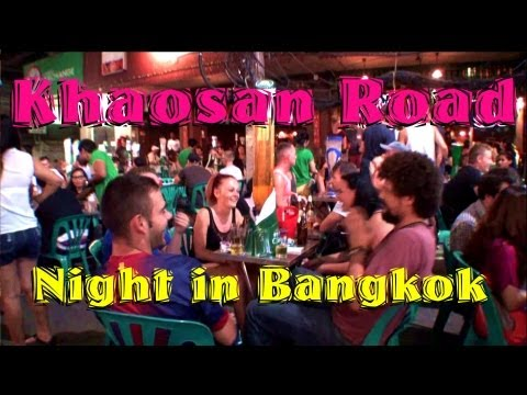 Bangkok, Khaosan road – night walk, Thailand ถนนข้าวสาร カオサンロード