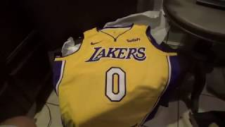 Los Angeles Lakers Kyle Kuzma Swingman Jersey Unboxing/Review