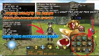 List of things that Worth to farm at 9M Download Event! What's the boxes used for? - Toram Online