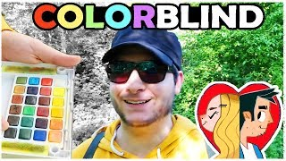 COLOR BLIND ARTIST - Trying Enchroma Glasses!