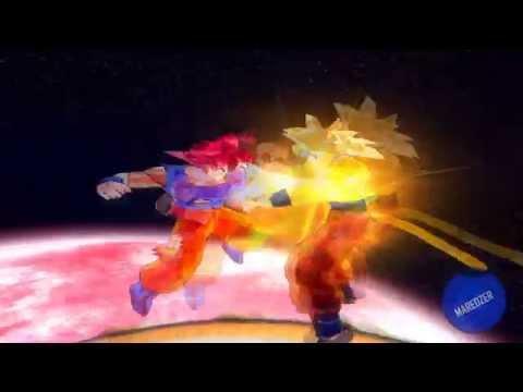 Especial 1,500 suscriptores Goku SSJ Dios vs Goku SSJ4 Dorado [HD]