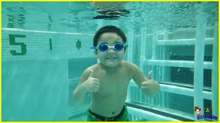 Kid swimming in the pool || Family Fun Pool Time || Kids swimming lessons || Jai Bista Show