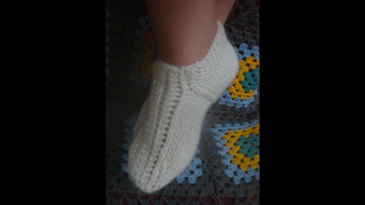 Вязание на спицах носки на двух спицах рисунки