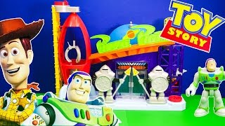 Unboxing the Toy Story Imaginext Pizza Planet Playset with Woody