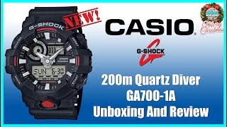 Great Feature Set! | Casio G-Shock 200m Quartz Diver GA700-1A Unbox & Review | Maverick