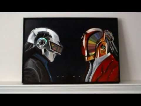Daft Punk LED Painting Discovery Era