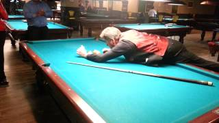 "Some pool tricks with Cliff ""The Grinder"" Thorburn"