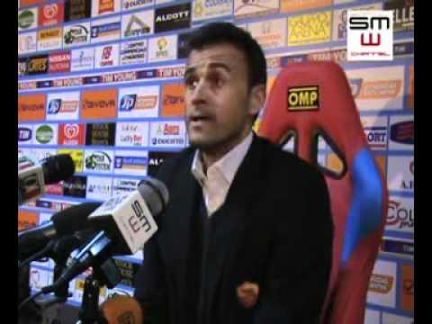 Catania - Roma 08.02.2012 Luis Enrique in sala stampa