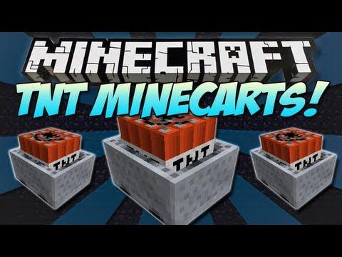 Minecraft   TNT MINECARTS!   Testificate Party Crashers! [1.4.7]