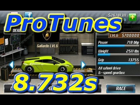 Drag Racing v1.6 Lamborghini Gallardo LP 8.732