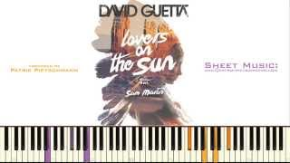 David Guetta - Lovers On The Sun (Piano Version) + Sheet Music