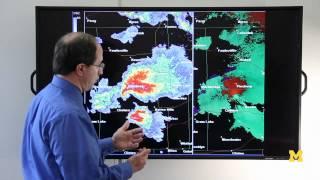Using Doppler Radar to detect tornadoes