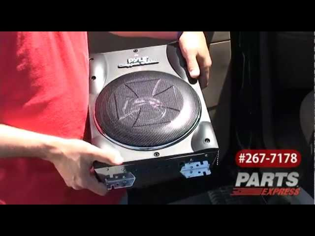 "Pyle PLBASS8 8"" Low-Profile Amplified Car Subwoofer"