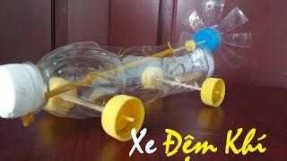 Làm xe đệm khí chạy bằng dây chun - Xe đồ chơi