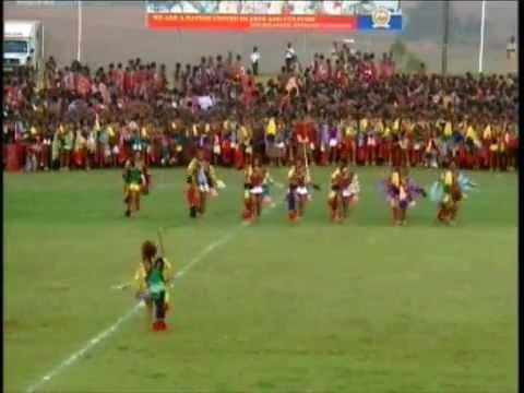 Hrh Inkhosatana Princess Sikhanyiso Of Swaziland Giya At The Umhlanga Reed Dance 2010 1) video