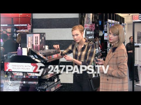 (New) Taylor Swift And Karlie Kloss Shopping at Sephora in NYC 11-12-14