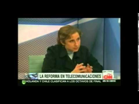 Aristegui. Aprobación de Leyes Secundarias en Telecomunicaciones. Caso Purificación Carpinteyro