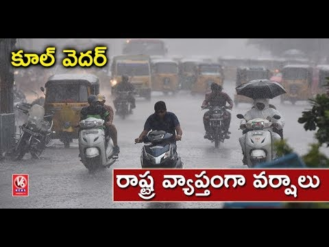 Weather Report: Sudden Rain Brings Summer Respite in Hyderabad | V6 News
